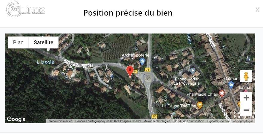 Terrain à bâtir La Roquebrussanne 83136 Var 80000 euros